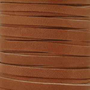 Leather-5mm Deerskin Lace-Saddle Tan
