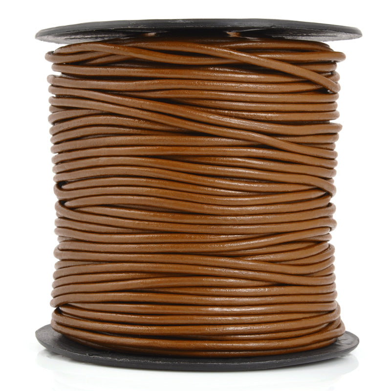 Leather Cord-1.5mm Round-Soft-Light Brown