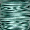Leather Cord-Round Cord-Metallic Truly Teal