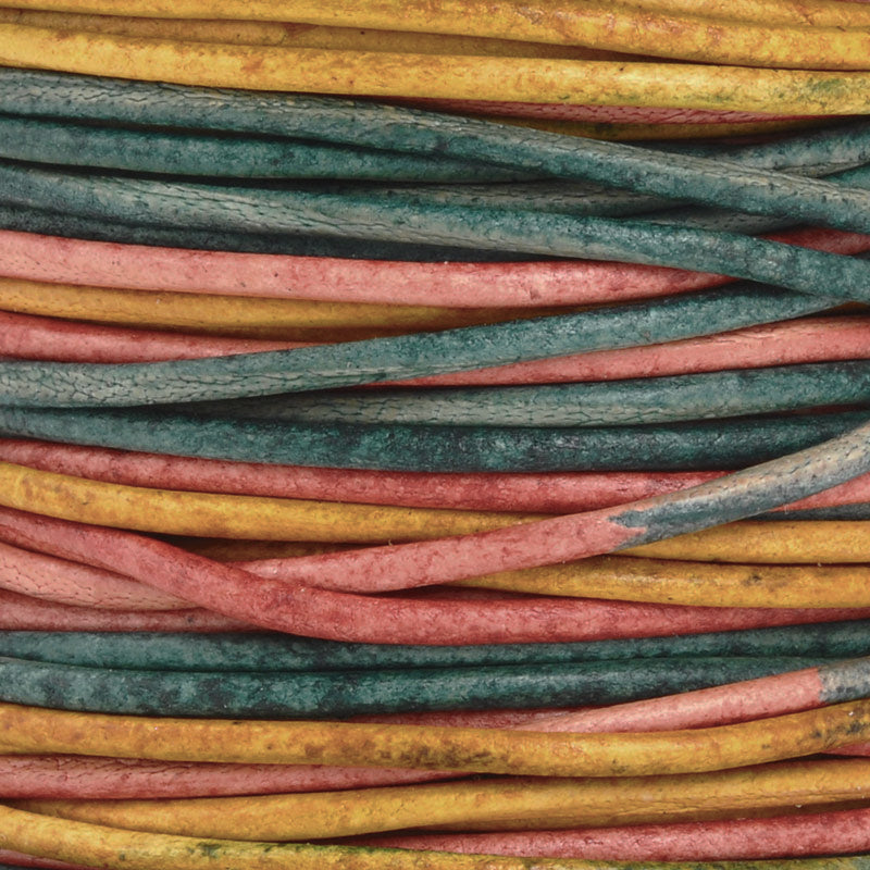 Leather Cord-2mm Round-Soft-Natural Gypsy Kinte