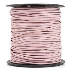 Leather Cord-2mm Round-Soft-Lilac
