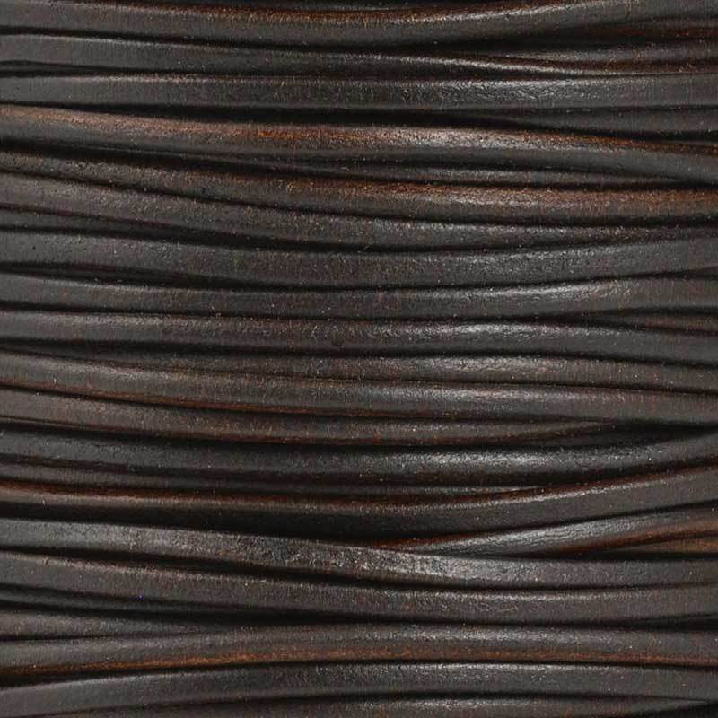Leather Cord-2.5mm Round-Soft-Natural Brown