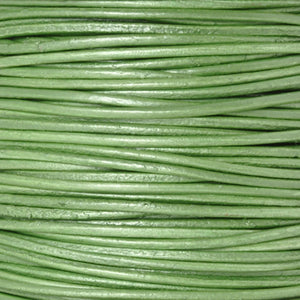 Leather Cord-Round-Metallic Juniper