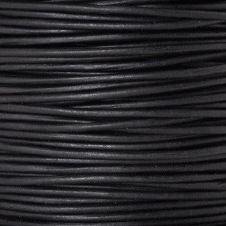 Leather Cord-Round-Lot 1S-Natural Black