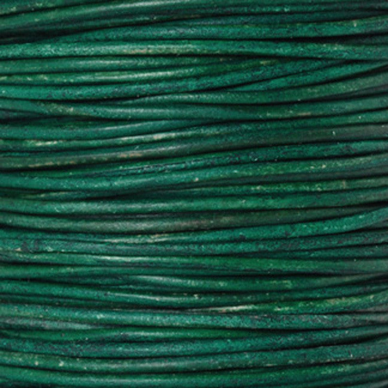 Leather Cord-Round-Natural Turquoise