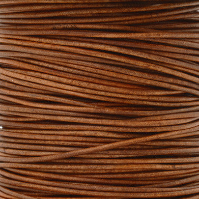 Chocolate Genuine Leather Cord by The Yard Round 1.5mm