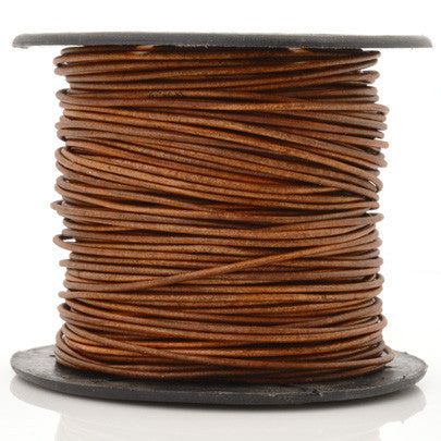 Leather Cord-Round-Lot 3S-Natural Light Brown