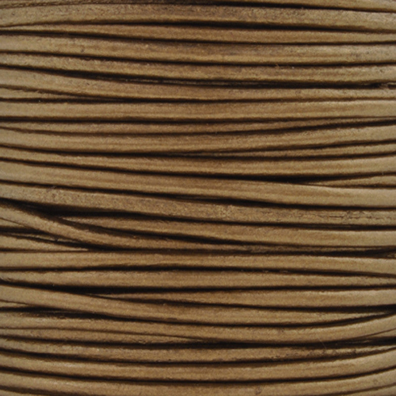 Leather Cord-Round-Metallic Kansa-Soft