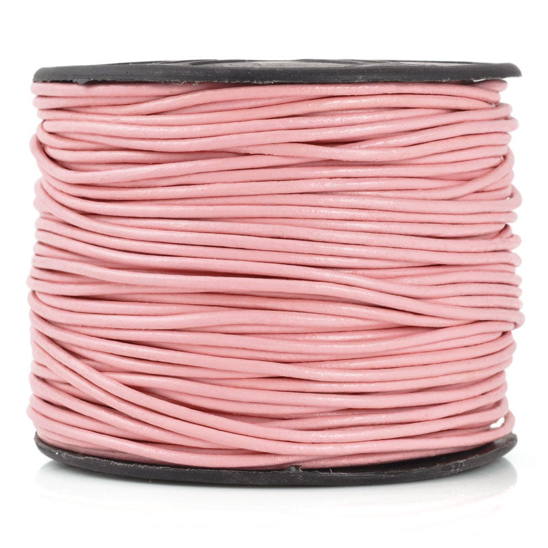 Leather Cord-Round-Soft-Light Pink