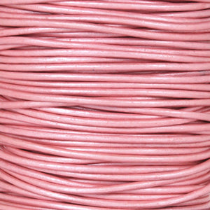 Leather Cord-Round-Soft-Metallic Mystique Pink