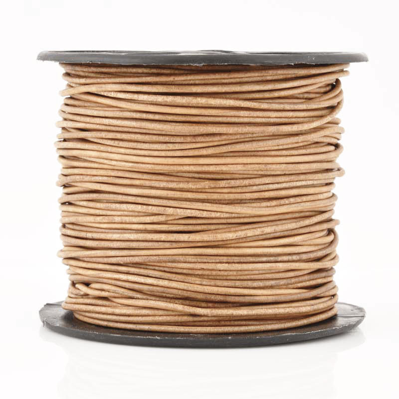 Leather Cord-Round-Soft-Natural