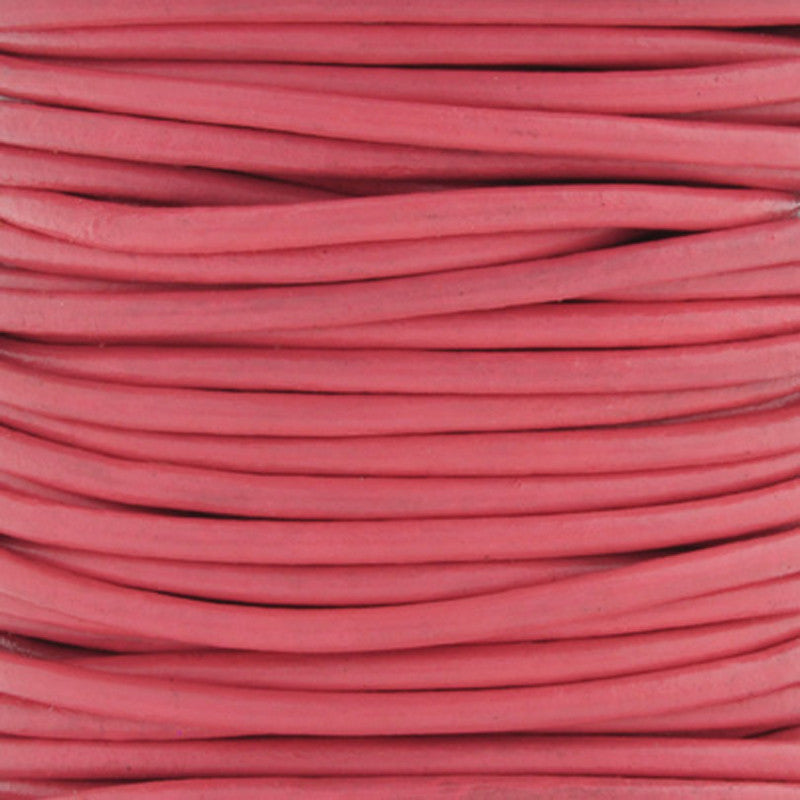 Leather Cord-Round-Soft-Pink