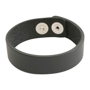 Leather Cuff Bracelet-Black