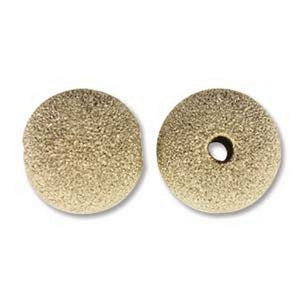 Metal-10mm Round Stardust Bead-Gold Filled-14K-Quantity 1
