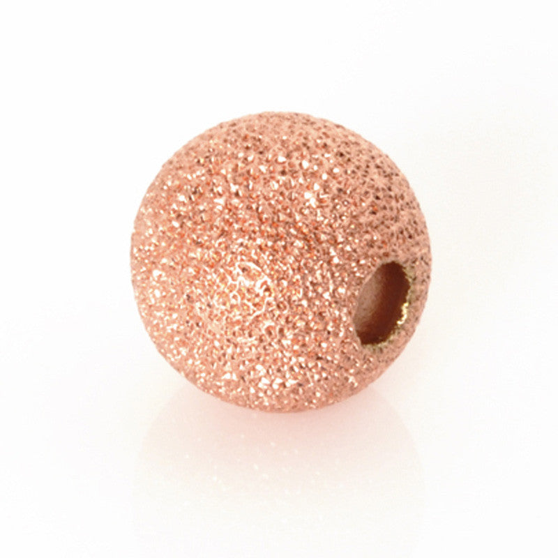 Metal-Round Stardust Bead-Copper