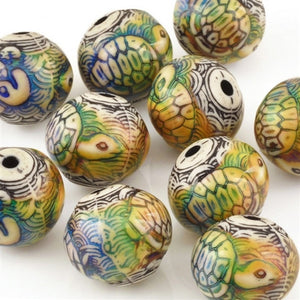 Mirage-17.5x16mm Turtle Island Bead-Color Changing-Quantity 1
