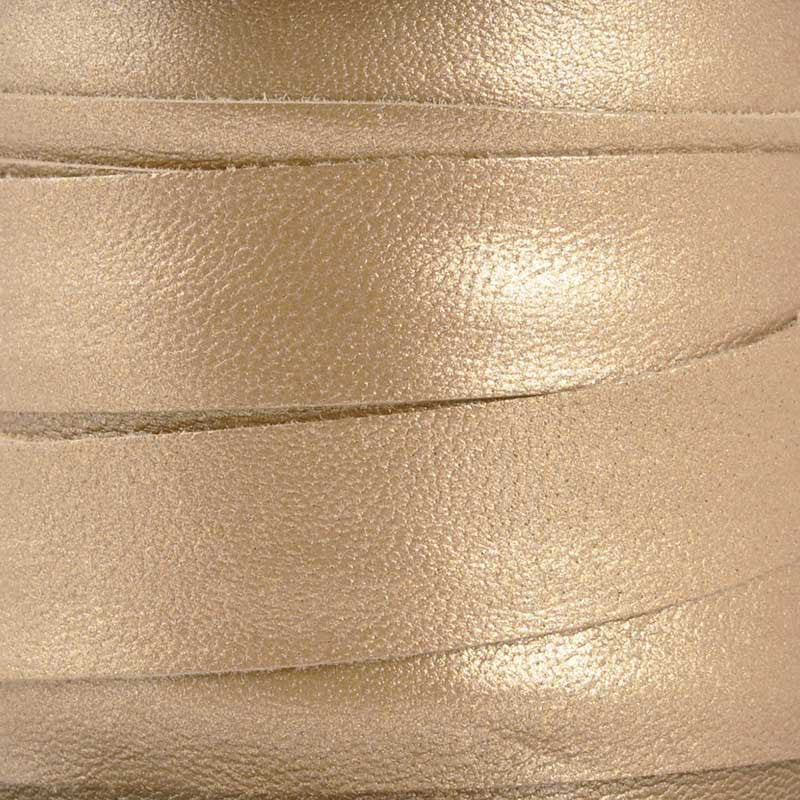 Nappa Leather Cord-1/2 Inch Flat-Metallic Bronze