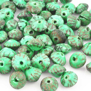 Natural Beads-10x6mm Saucer-Salwag-Turquoise