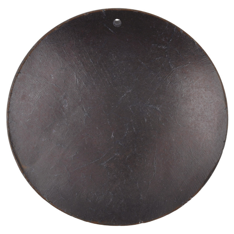 Natural Beads-60mm Domed Disc Pendant-Black