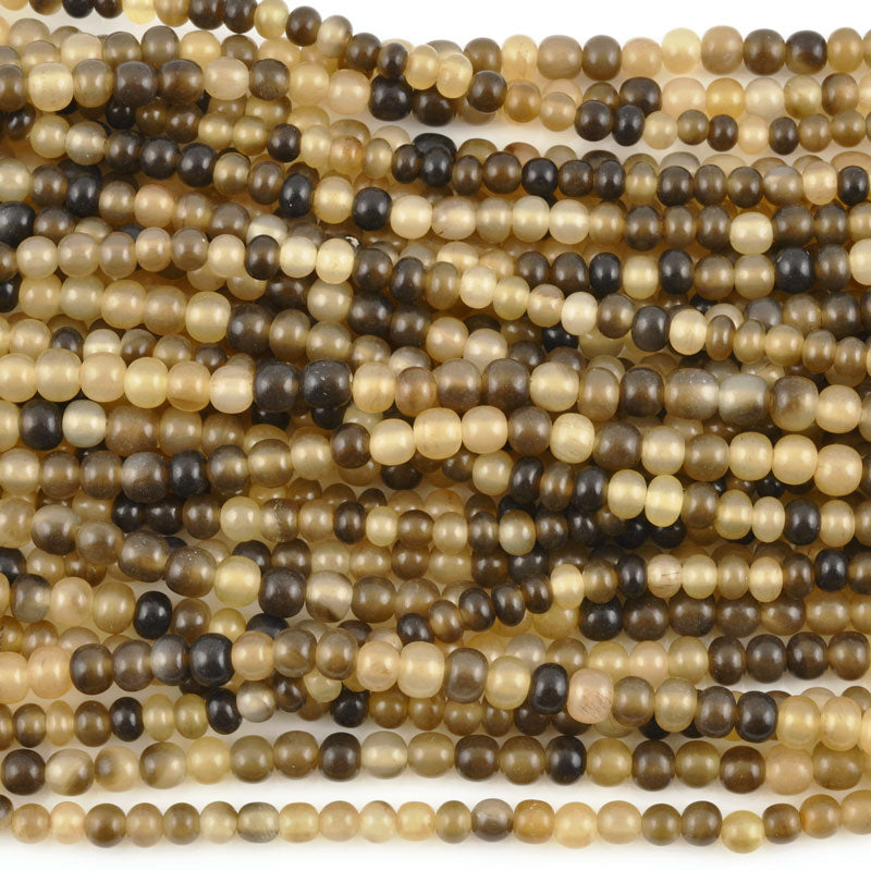 Natural Beads-6mm Grey Horn