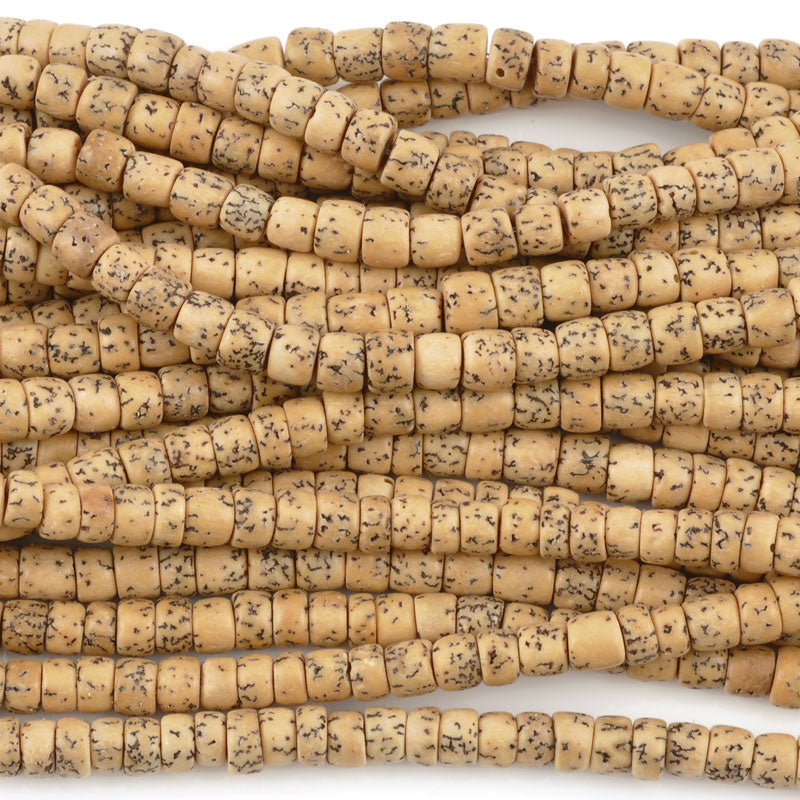 Natural Beads-7x4mm Rondelle-Salwag Pucalet-Vintage-16 Inch Strand-Quantity 1