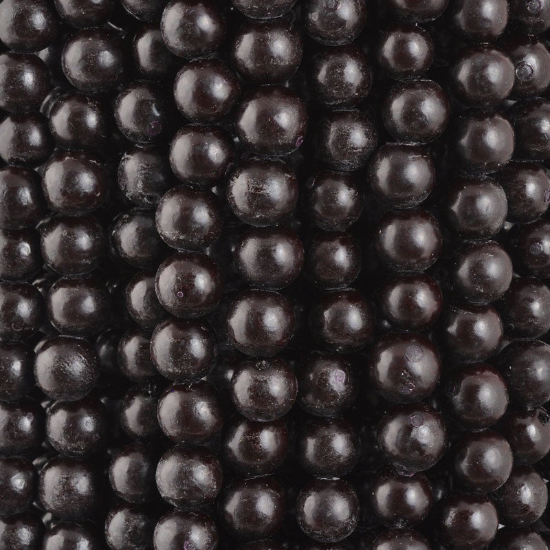 Natural Beads-8mm Round-Buri-Black