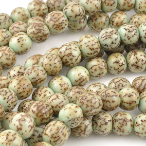 Natural Beads-8mm Round-Salwag-Turquoise Pucalet