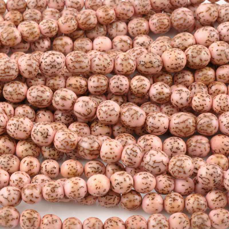 Natural Beads-8mm Round-Salwag-Baby Pink Pucalet