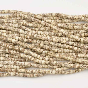 Natural Beads-7x4mm Rondelle-Salwag-Natural Pucalet-16 Inch Strand