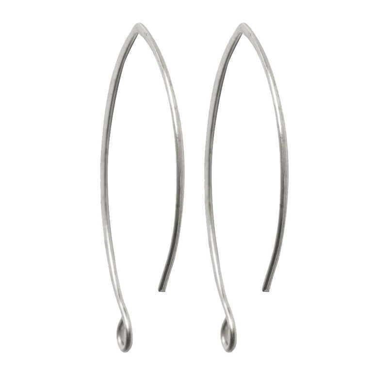 Nunn Design-Brass-33mm Ear Wire-V-Style-Antique Silver