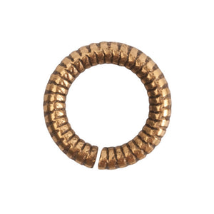 Nunn Design-Findings-6mm Round Textured Open Jump Ring-16 Gauge-Antique Gold