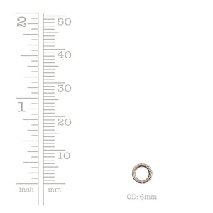 Nunn Design-Findings-6mm Round Textured Open Jump Ring-16 Gauge-Antique Silver