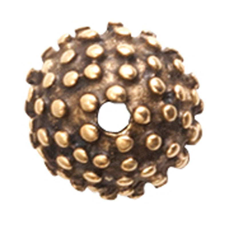 Nunn Design-Findings-9mm Urchin Bead Cap-Antique Gold