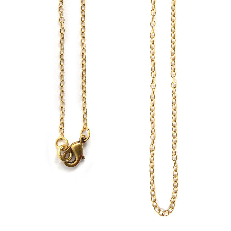 Nunn Design-Jewelry Chain Necklace-Delicate Link-Antique Gold-18 Inches