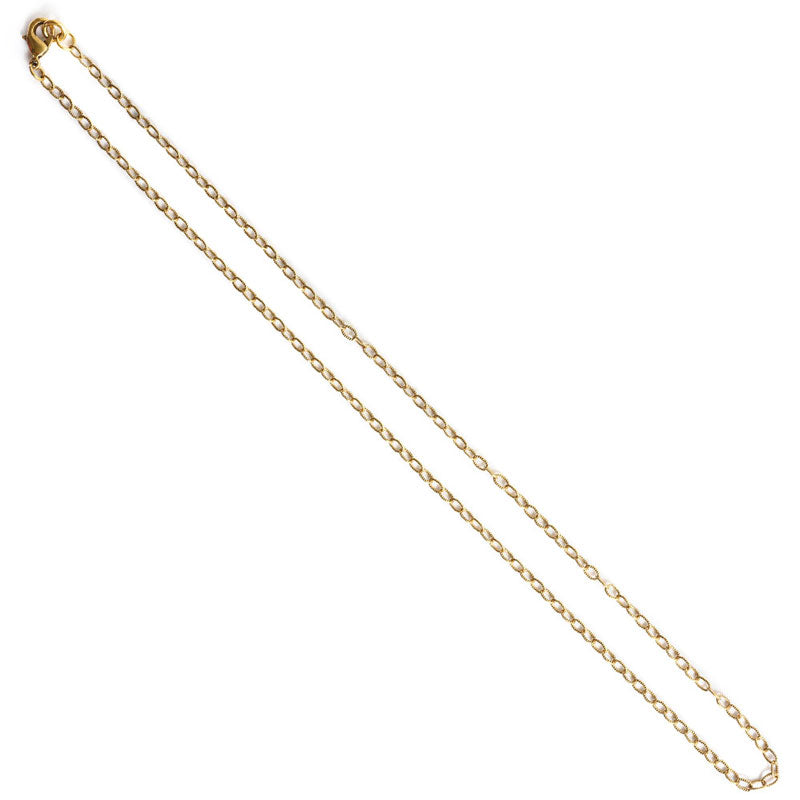 Nunn Design-Jewelry Chain Necklace-Fine Textured Cable-Antique Gold
