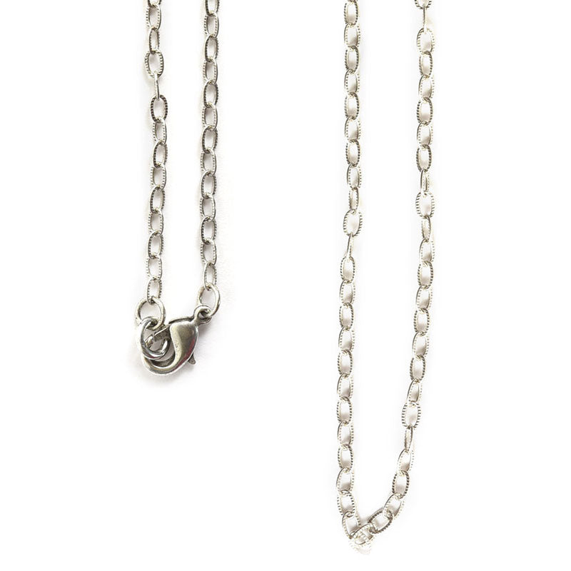 Nunn Design-Jewelry Chain Necklace-Fine Textured Cable-Antique Silver
