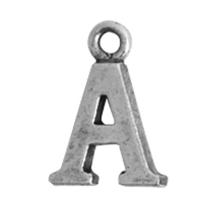 Nunn Design-Pewter-10mm Charm Initial A