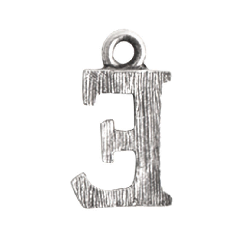 Nunn Design-Pewter-10mm Charm Initial E
