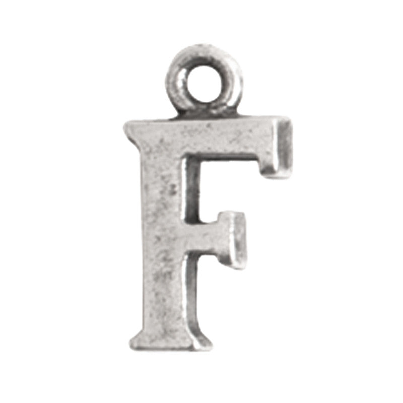 Nunn Design-Pewter-10mm Charm Initial F