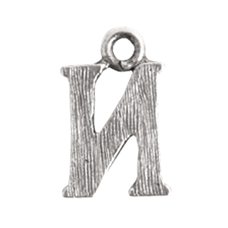 Nunn Design-Pewter-10mm Charm Initial N