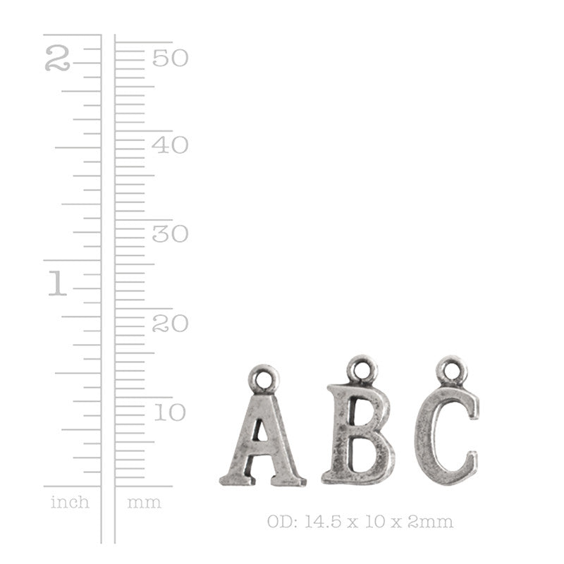 Nunn Design-Pewter-10mm Charm Initial Q