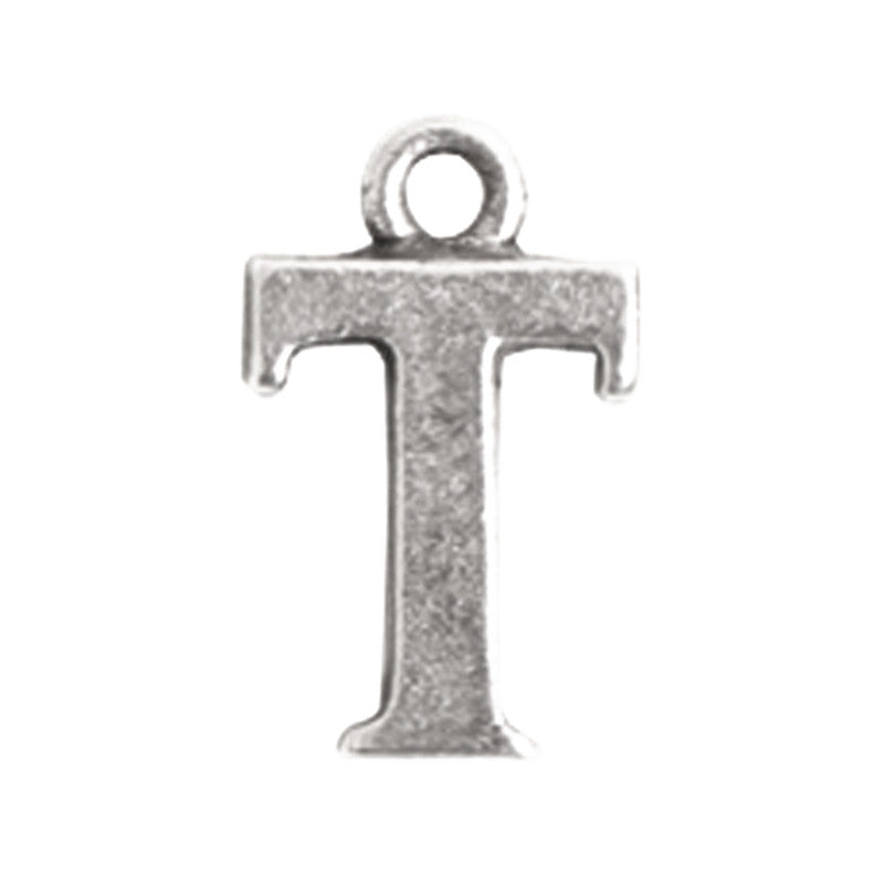 Nunn Design-Pewter-10mm Charm Initial T