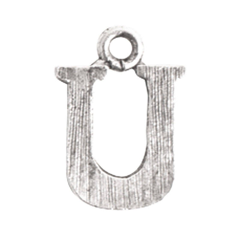 Nunn Design-Pewter-10mm Charm Initial U