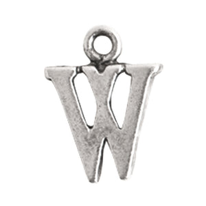 Nunn Design-Pewter-10mm Charm Initial W