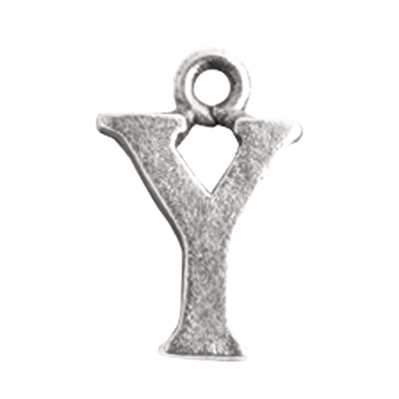 Nunn Design-Pewter-10mm Charm Initial Y