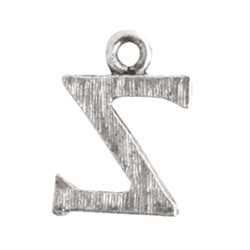 Nunn Design-Pewter-10mm Charm Initial Z