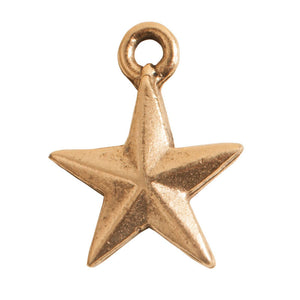 Nunn Design-Pewter-11x14mm Mini Star Charm-Antique Gold-Quantity 1