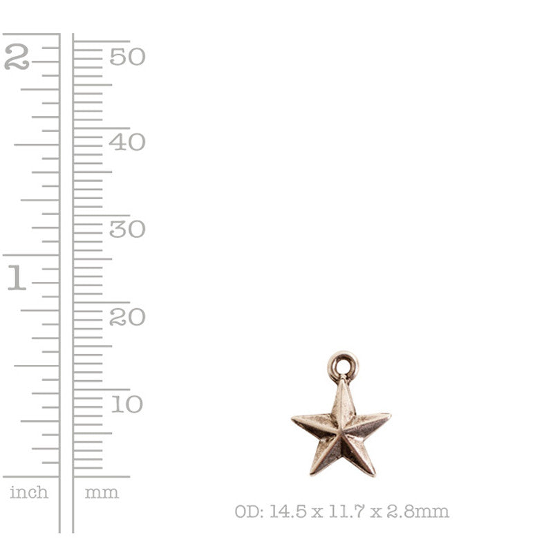 Nunn Design-Pewter-11x14mm Mini Star Charm-Antique Silver