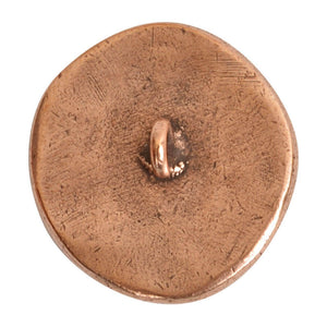 Nunn Design-Pewter-18mm Round Organic Bee-Small Button-Antique Copper