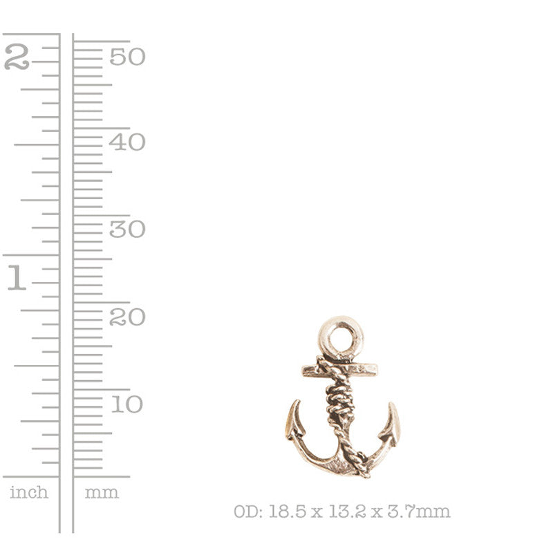 Nunn Design-Pewter-18x13mm Anchor Charm